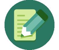 Icono de un bloc de notas