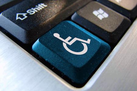Logotipo de teclado accesible