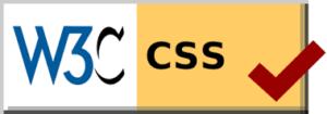 Logotipo de acreditación de CSS válido