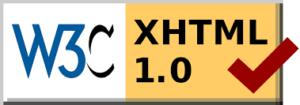 Logotipo de acreditación de XHTML 1.0 válido